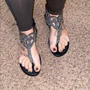 Torrid size 12w sparkly sandals